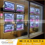 LED Light Pockets Advertising Crystal Real Estate Agent Window LED Display Illuminated Light Frame Estate Agency Light Box