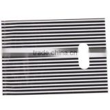 wholesale dcb-46 White&Black Stripe Plastic Carrier Bags Fit Shopping Boutique Store Use