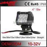 magnetic base 18w led light bar dual row spot/flood light bar led offroad headlight auto accessory