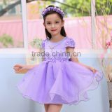 New Style Girl Dress Bow Red Party Dresses Cotton Fashion Princess Wear Kids Clothes Baby Dress