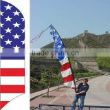 2015 Outdoor/Hand/String/flag Cape Rolling banner teardrop display banner