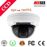wholesale disposable camera Plastic Indoor Dome CCD 650TVL CCTV Products Surveillance Camera