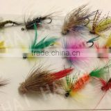 assortment 12pcs flies fishing lure for Trout,Bass,Salmon, salt water fishing flies