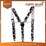 white printed black suspenders for women