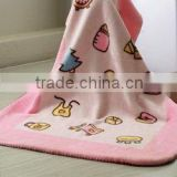 super soft lovely cute raschel 100 polyester baby AC blankets