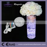 AA battery powered crystal candelabra under flower vase glass bottle base LED centerpiece party decoration