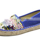 colorful sequins platform jute sole espadrilles fancy fashion shoe women ladies flat loafer shoes espadrille 2016
