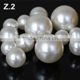 Loose high Quality White Button Freshwater Pearl Bead Z2