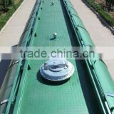 BOHAI air compressor and Weichai diesel engine 50m3 bulk powder tank semi trailer