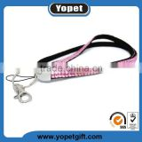 Rhinestone Lanyard Bling Crystal Necklace with Keyring for Business Id Badge /Card Holders/key/cell Phone