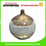 Ball Sharp Decorative Gold Ceramic Vase With Different Size/Color