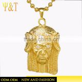 Jingli Jewelry Fashion stainless steel religous jewelry hip hop jesus head pendant