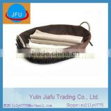 2012 pure handmade weaving oval dark brown seagrass basket with metal handle & liner