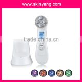 AP-9902 new home facial spa machine/radiao Frequencyand ion and 6 bio colourful light treatment for remover wrinkle
