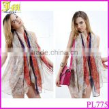 New Fashion Cheap Lady Retro Long Soft Print Hijab Chiffon Voile Scarf Wrap Shawl Stole Scarves