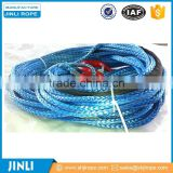 Jinli cable pulling winch machine synthetic 4x4 winch rope with hook thimble sleeve