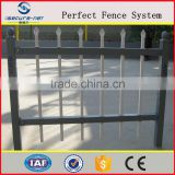 galvanized portable tubular steel picket yard fence