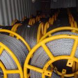 Anti-twisting braided steel wire rope