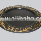 Colored Charger Plates,Charger Plate,Metal Plate,Hand Painted Charger Plates,Wedding Charger Plates,Black Charger Plates