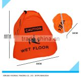 16-Inch Bright Orange Caution Wet Floor Pop Up Cone