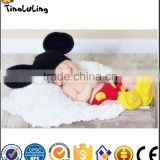 Photography Prop Baby Costume Cute Crochet Knitted Hat Cap Girl Boy Shoes Mouse