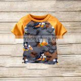 wholesale Baby Boutique Clothes Children Short Sleeve Shirt boy halloween printed shirt