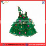 PGCC1625 Hot sale new design christmas tree dress costume christmas costume for baby light up costume christmas