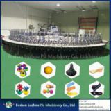 Call at 86 13751725551 Power Saving Shoe Production Line PU Sole Pouring Equipment Safety Shoe Making Machine