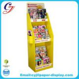 Flooring cardboard display for stationery promotional sale