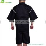 Japanese style fancy cute black pajamas for men cotton kimono style sleepwear men night gown bathrobe GVXF0002