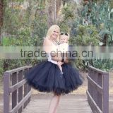 65cm Long hand made waist adjustbale Mother and Daughter skirt, Matching tutus black skirt