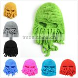 Crochet Octopus Hat Knitted Winter Funny Crazy Hats Adult M7042603