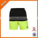 Twin color plain dyed 80% cotton 20% polyester quick dry men gym shorts wholesale sweat shorts
