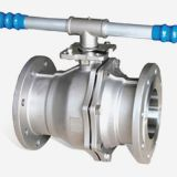 stainless steel CE certified 2-pc flanged ball valve with ISO5211 mounting pad DIN norm DN125-DN200