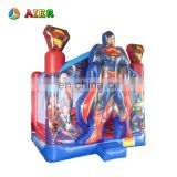 wholesale price bounce castle / vinyl inflatable castle / superman kids castle beds