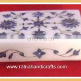 White Marble Box with Inlay Work