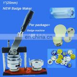 "Free Shipping 1""(25mm) Tin badge Maker + Adjust Circle Cutter+1,000sets blank button parts"