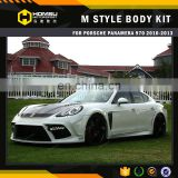 High quality top style auto parts fiber glass carbon wide car body kit for porsch-e panamera 970