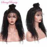 Swiss 360 Full Lace Frontal Wigs 100% Natural Remy Human Hair Extensions