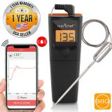 Hypersynes   BBQ Meat Grill Thermometer, Smart Bluetooth Wireless Remote Digital Cooking Food Meat Thermometer with 6 Probe for Smoker Grill BBQ Thermometer support ios & Android