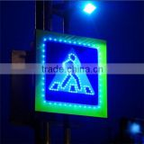OEM available IP65 waterproof solar LED pedestrian crossing traffic sign lights
