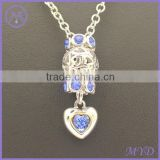 DIY handmade silver gemstone DIY bead charm dangle pendants necklace
