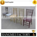 China wholesale golden wedding stacking wood chiavari chair
