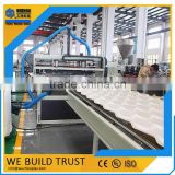 Clear polyvinyl chloride corrugated roofing sheets/ PVC translucent tile roofing for skylight machine