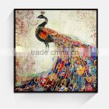 JC Fashion Home Decoration Bedroom Peacock Canvas Art Painting For Living Room ANI-1b                                                                         Quality Choice