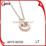 New Arrival Engraved Coin Necklace Long Chains Charms Necklace Round Pendant necklace for women gift jewelry