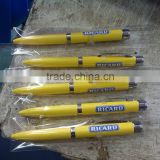 2015 hot sell promotion led projector light pen writing in the dark metal and plastic ballpoint poen