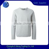 Wholesale Custom Made New Plain Crew Neck Gray Hoodies/Sweatshirts
