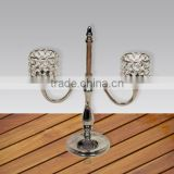 Cast Aluminium Crystal Candelabra, Candle stand, Candle holder, Candle light, Pillar Holder