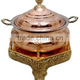 Copper Cheffing Dish, Wedding & Party utensils, food serving dish, hot keeping dish, Catering item, Hotel & Restaurant utensils